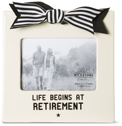 "Retirement by The Milestone Collection - 7"" x 7"" Frame (Holds 3.5"" x 5"" Photo)"