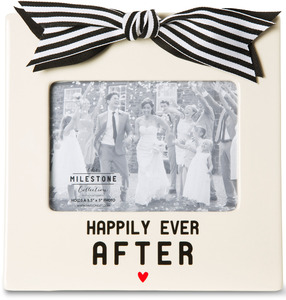 "Happily Ever After by The Milestone Collection - 7"" x 7"" Frame (Holds 3.5"" x 5"" Photo)"