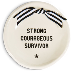 "Survivor by The Milestone Collection - 4.5""  Round Keepsake Dish for all the survivors of cancers, diseases, or any courageous battles they"