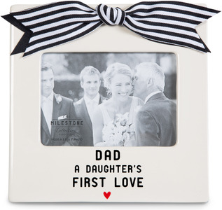"Dad and Daughter by The Milestone Collection - 7"" x 7"" Frame (3.5"" x 5"") Photo"