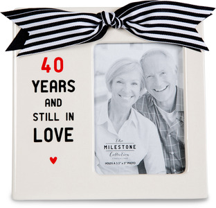 "40th Anniversary by The Milestone Collection - 7"" x 7"" Frame (3.5"" x 5"") Photo"