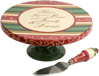 Family & Friends by Crimson Manor - Cake Pedestal w/Cake Server