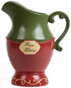 "Happy Holidays by Crimson Manor - 11"" Pitcher"