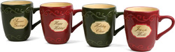 "Holiday Spirit by Crimson Manor - 5"" Mugs (Set of 4)"