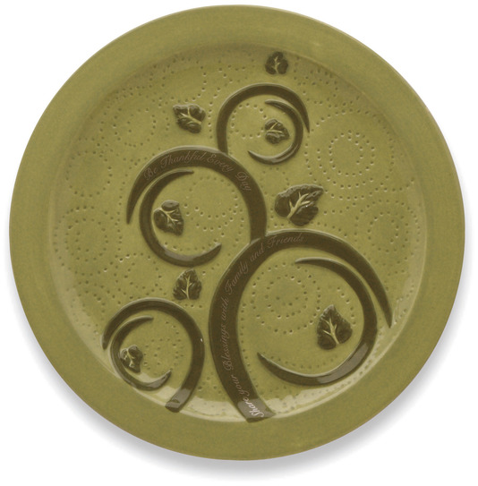 "Be Thankful by Shared Blessings - Be Thankful - Salad Plate (Set of 2) 8.5""D"