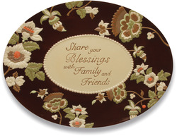 Share Your Blessings by Shared Blessings - Oval Platter 17""