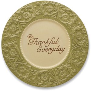 "Be Thankful by Shared Blessings - Serving Dish 12""D"