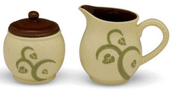 "Cream & Sugar Set by Shared Blessings - Creamer 4.25"", Sugar 3.75"""