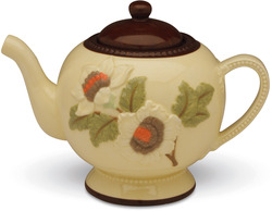 "Embossed Teapot by Shared Blessings - 9.25"" x 6.6"" Floral Teapot"