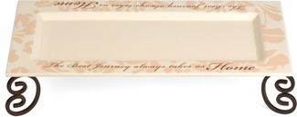 "The Best Journeys by Simply Stated - 12""x5""x2.5"" Tray w/Stand"