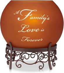 "Family by Simply Stated - 5.25""H Rnd Amber Candle Hold"