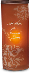 "Mother by Simply Stated - 6"" Cyl. Amber Candle Holder"