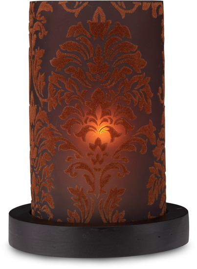 "Chocolate Candle Holder by Simply Stated - Chocolate Candle Holder - 6.5"" Cylinder w/base"