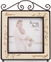 "Love by Simply Stated - 5.5""x6.75"" Frame (4x4 photo)"