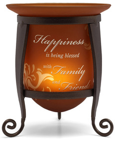 "Happiness by Simply Stated - 4.75"" Candle Holder w/Stand"