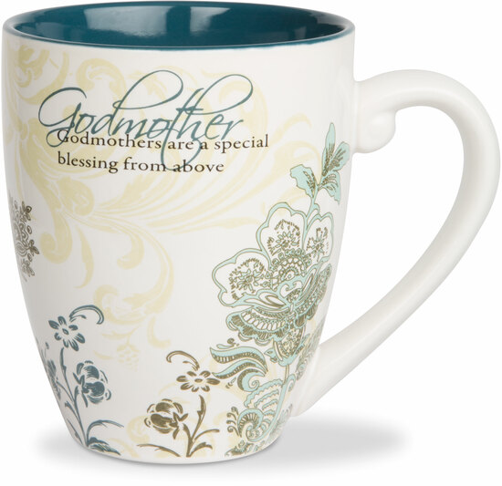 Godmother by Mark My Words - This line features 50 mugs with eclectic quotes and floral patterns.  Plus, they are strong and dependable.  The new abode for your brew.