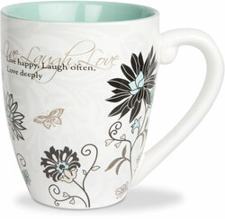 Live, Laugh, Love by Mark My Words -  17oz Mug