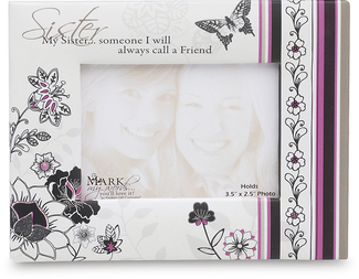 "Sister by Mark My Words - 5.5""x4.25""Magnet Photo Frame"