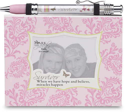 Survivor by Mark My Words - Notepad & Banner Pen Set with Pink coloration to symbolize Breast Cancer Awareness