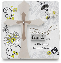 "Friends by Mark My Words - 3"" x 3"" Self Standing Plaque"