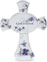 "God is Good by Mark My Words - 3.5"" Self Standing Cross"