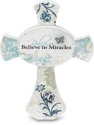 "Miracles by Mark My Words - 3.5"" Self Standing Cross"