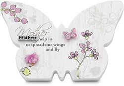 "Mother by Mark My Words - 4.75""x3.25"" Butterfly Plaque"