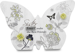 "Sister by Mark My Words - 4.75""x3.25"" Butterfly Plaque"