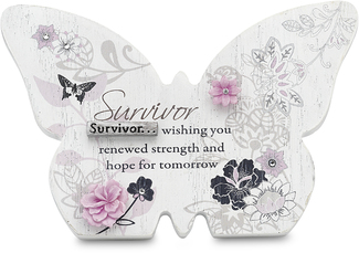"Survivor by Mark My Words - 4.75""x3.25"" Butterfly Plaque"