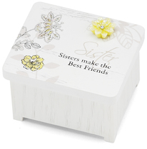 "Sister by Mark My Words - 2"" x 1.75"" Keepsake Box"