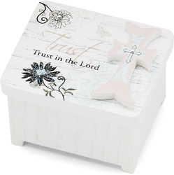 "Trust in the Lord by Mark My Words - 2"" x 1.75"" Keepsake Box"