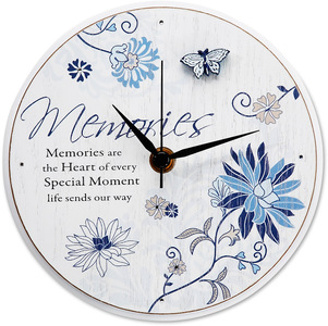 "Memories by Mark My Words - 6"" Self-Standing Round Clock"