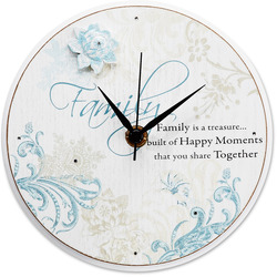"Family by Mark My Words - 6"" Self-Standing Round Clock"