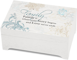 "Family by Mark My Words - 6""x4"" Rectangular Music Box"