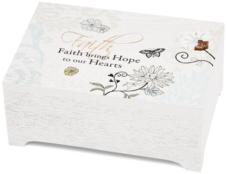 "Faith by Mark My Words - 6""x4"" Rectangular Music Box"