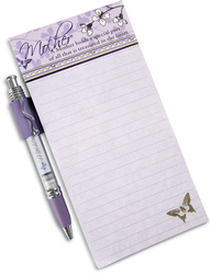 "Mother by Mark My Words - 4"" x 8"" Magnetic Notepad with Pen"