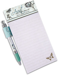 "Aunt by Mark My Words - 4"" x 8"" Magnetic Notepad with Pen"