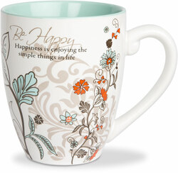 Be Happy by Mark My Words -  17oz Mug