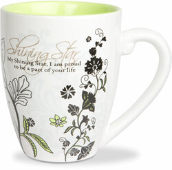 Shining Star by Mark My Words - 17oz Painted Quote Mug