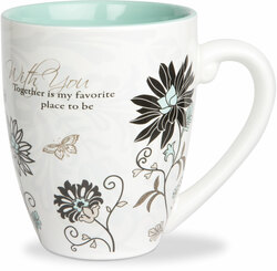 With You by Mark My Words - 17oz Painted Quote Mug