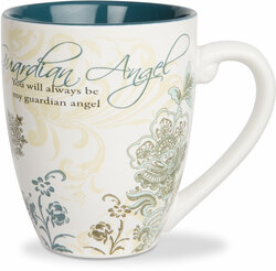 Guardian Angel by Mark My Words -  17oz Painted Quote Mug