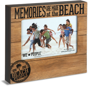 "Beach People by We People - 6.75"" x 7.45"" Frame (holds 4"" x 6"" photo)"