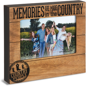 "Country People by We People - 6.75"" x 7.45"" Frame (holds 4"" x 6"" photo)"