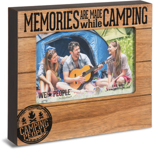 "Camping People by We People - 6.75"" x 7.45"" Frame (holds 4"" x 6"" photo)"