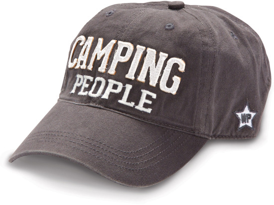 Camping People by We People - Dark Gray Unisex Adjustable Hiking Hat 4ab572e1964
