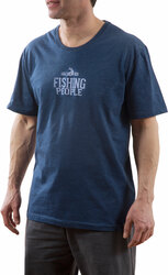 Fishing People by We People -  Double Extra Large Navy Unisex T-Shirt