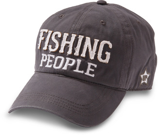 Fishing People by We People - Dark Gray Adjustable Hat