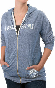 Lake People by We People - Small Blue Unisex Hooded Sweatshirt