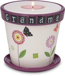 "Grandma by Groovy Garden - 4"" Tea Light Holder/Planter"