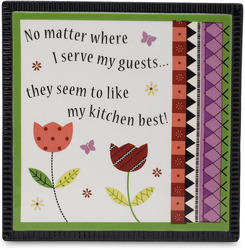 "Guests by Groovy Garden - 6"" Ceramic Trivet"
